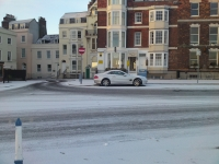 Bayview weymouth hotel in the snow